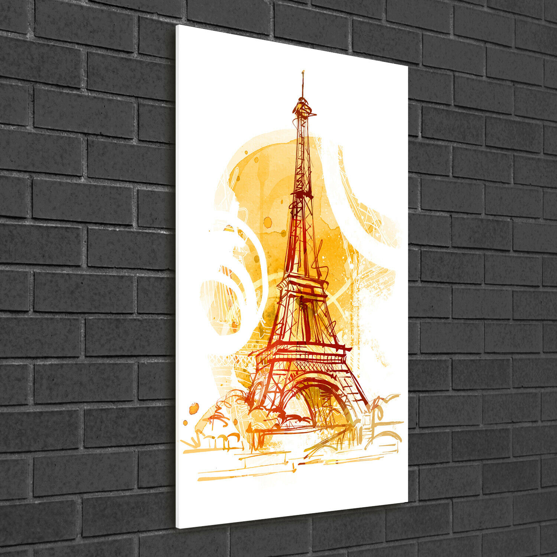 Immagine muro ARTE-STAMPA su duro-vetro ad alta Kant 50x100 estate a Parigi