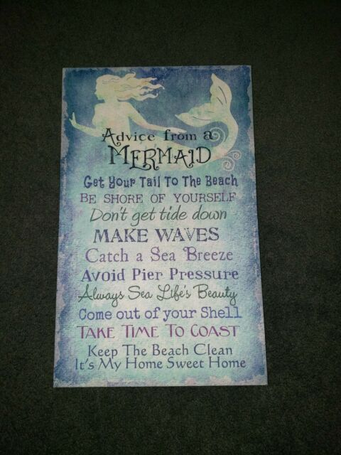 ADVICE FROM A WHALE Wisdom Love wood  5 X 10 SIGN wall HANGING PLAQUE Sea animal