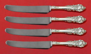 """Antiques Furniture Confident Sir Christopher By Wallace Sterling Silver Fruit Knife Set 4pc Custom 7"""" Hhws"""