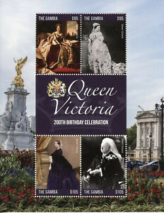 Gambia-2019-MNH-Queen-Victoria-200th-Birthday-4v-M-S-Art-Royalty-Stamps