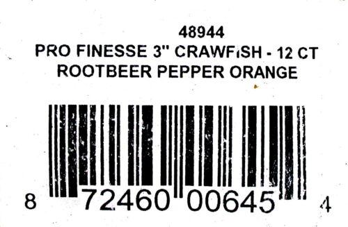 "Bags Joe Bucher Pro Finesse 3/"" Crawfish Rootbeer Pepper Orange Brand New 3"