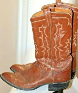 Vintage Tony Lama Men/'s Black Leather Exotic Ostrich Western Rodeo Cowboy Boots Size 9 D  Made In USA