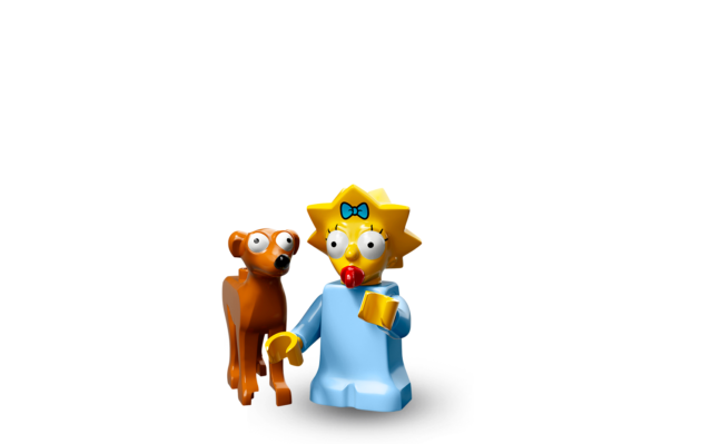 71009-The Lego Simpsons 2-Maggie with Santa /'s Helper Lego Minifigures