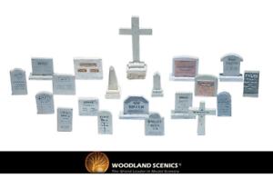 S32 Woodland Scenics Broken Stumps Suitable for OO//HO Gauge 14 Pack