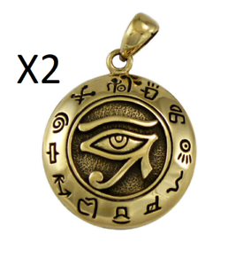 Eye of Horus Egyptian Pendant for Necklace HIEROGLYPH  X 2