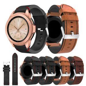 Reloj-Pulsera-de-Cuero-Banda-De-Silicona-Para-Pulsera-Samsung-Galaxy-42-46mm-Smart-Band