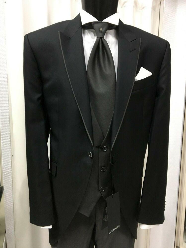 Abito Uomo Tight Sposo T. 58 Firmato Carlo Pignatelli Suit Groom Wedding