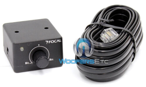 FOCAL CAR AUDIO REMOTE KNOB WIRED BASS SUB CONTROL for SOLID 1-4 AMPLIFIERS NEW