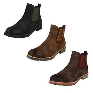 Donna-f50566-Nero-marrone-bordeaux-tessuto-Stivali-da-Down-To-Earth-retail