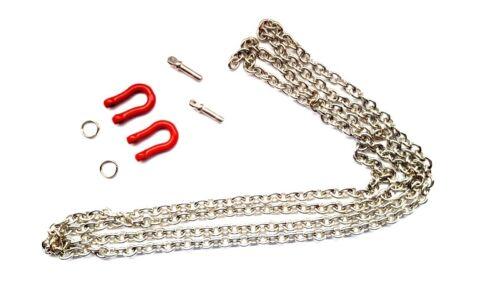 80150r Abschlepp Chaîne 96 cm métal 2 manilles 1:10 Crawler