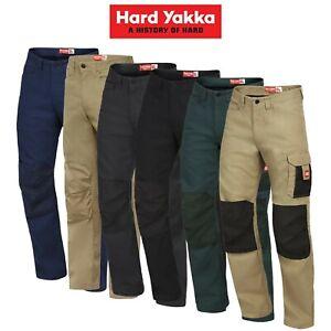 Mens-Hard-Yakka-Legends-Pants-Work-Tough-Cargo-Cordura-Panama-Weave-Phone-Y02202