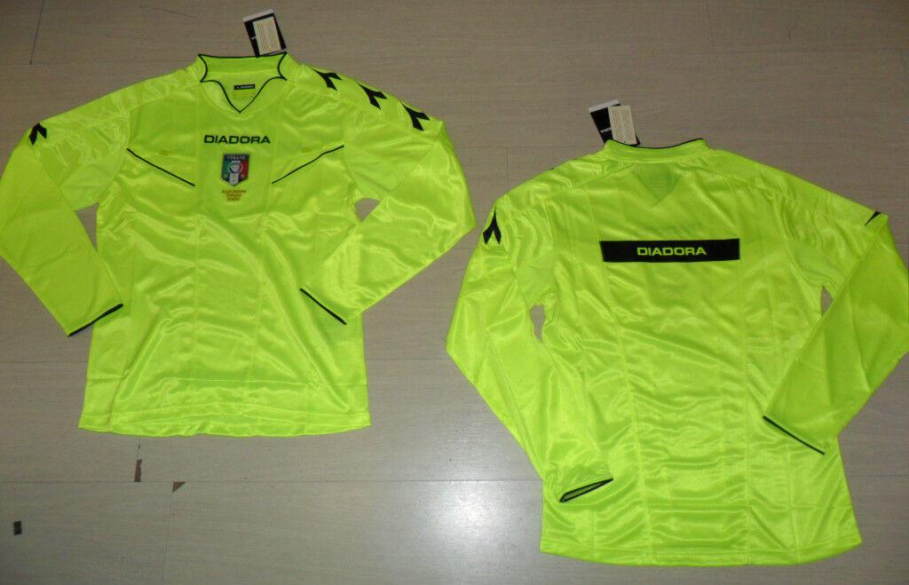 10421 FW13 Diadora XL T-Shirt Referee Farmyard Long Sleeve Refree Jersey