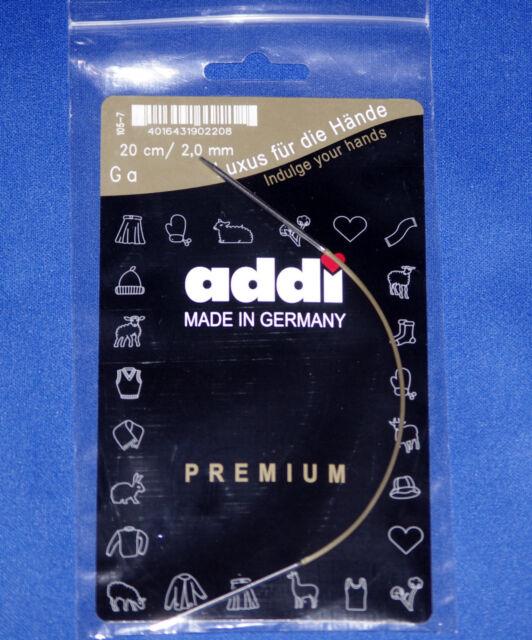 Goldseil Addi Rundstricknadel 30cm 2,0 mm Messingspitze
