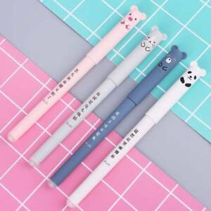4pcs-0-35mm-Animals-Blue-Black-Ink-Gel-Pen-Erasable-Gel-Pen-School-Supplies-Chic