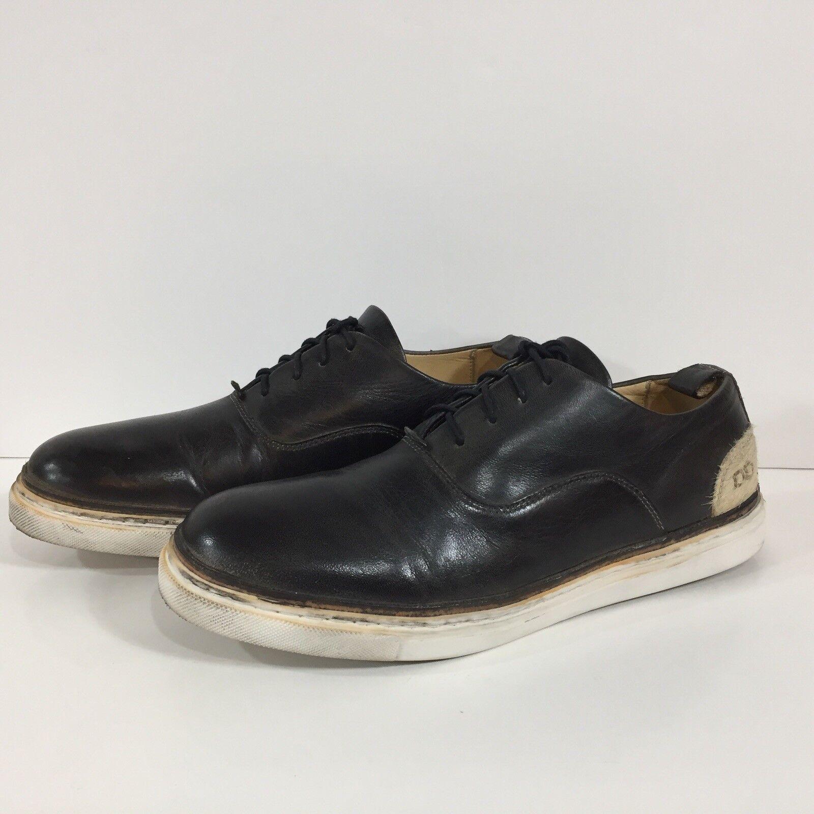Bed Stu Mens Leather Sneaker Bishop Black Rustic Size 10.5 M