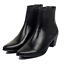 Mens-Chelsea-Boots-Leather-Formal-Pointed-Toe-Block-Mid-Heel-Shoes-Ankle-Booties thumbnail 7