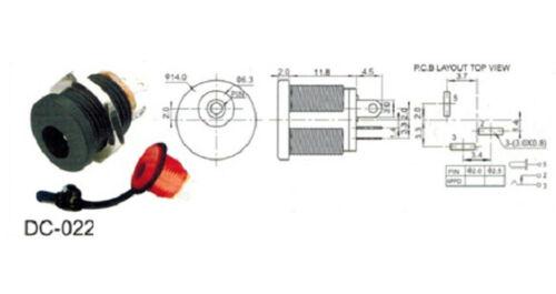 10 sets 12V 3A DC Power Male Plug Female Socket Waterproof Jack Nut Panel Mount