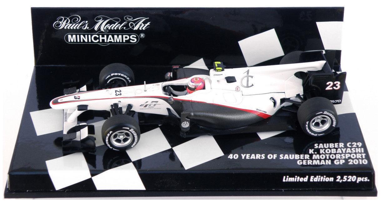Sauber C29  23 K.Kobayashi  GP Germany  2010  40 Years  (Mini 1 43   400 100123)