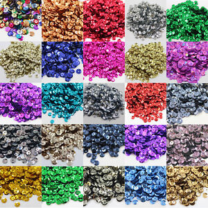 7mm-ROUND-CUPPED-SEQUINS-EMBELLISHMENTS-32-COLOURS-SEWING-CARD-CRAFTS-CONFETTI