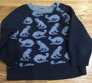 3ace9deea Baby Gap Baby Boys Dinosaur Pull Over Sweater Size 6-12 Months - EUC ...