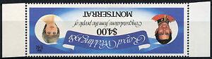 Montserrat 1981 Princess Diana Royal Wedding MNH $4 Wmk Inverted #D7826