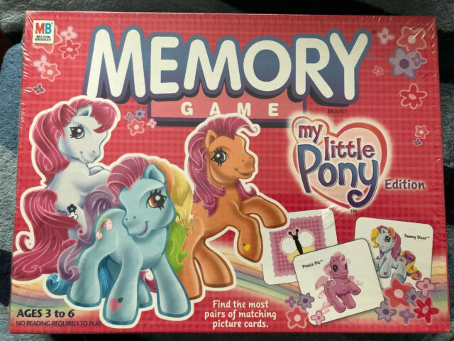 2003 my little pony hasbro memory game 1 players ages 36