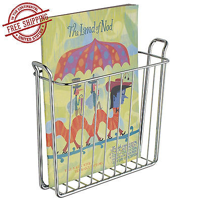 Wall Mount Newspaper Magazine Rack Bathroom Holder Basket ...