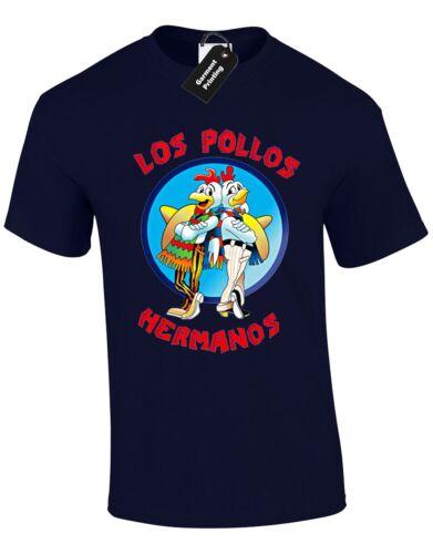 LOS POLLOS HERMANOS MENS T SHIRT SAUL METH BLUE CRYSTAL SPOOF VAMONOS PEST