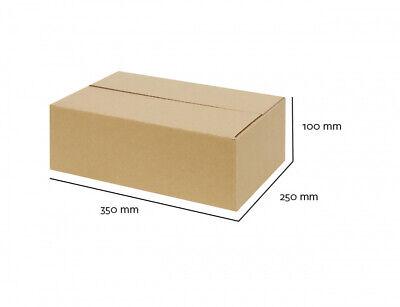 80 Faltkartons 200x200x350mm Einwellig  Versandkartons Karton B-Welle braun