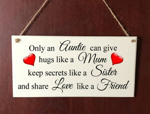 Image Is Loading Auntie DELUXE Plaque Aunt Aunty Friends Sign Present