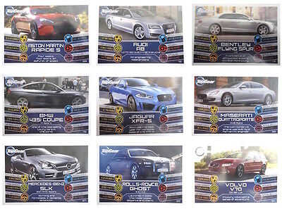 TURBO ATTAX TOP GEAR  2014   BASE //BASIC  CARDS  001 TO 160  BY TOPPS   CHOOSE