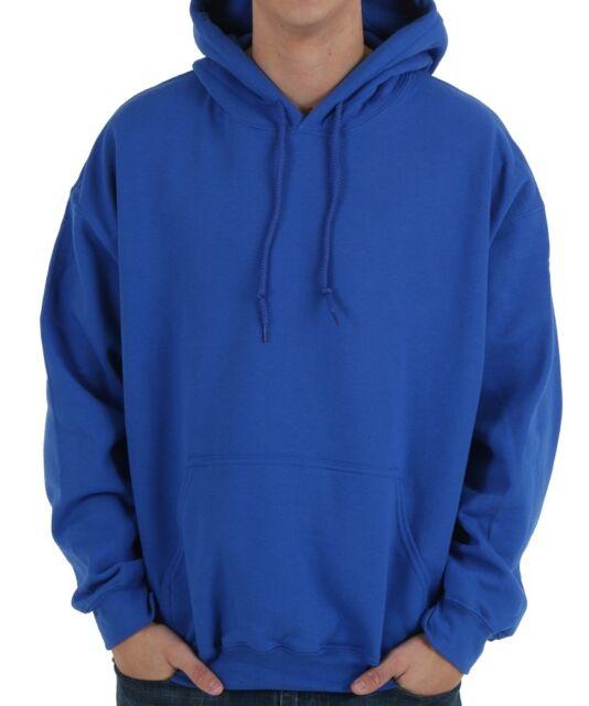 Unisex Plain Hooded Warm Hoodie Casual Fleece Jacket Top Pullover Joblot gift