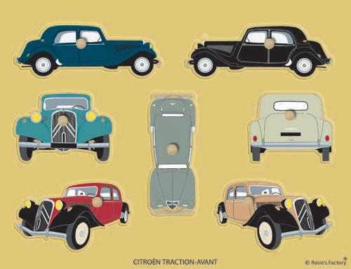 Citroën Traction puzzle auto, voiture collection, collectible cars, Sammlerautos