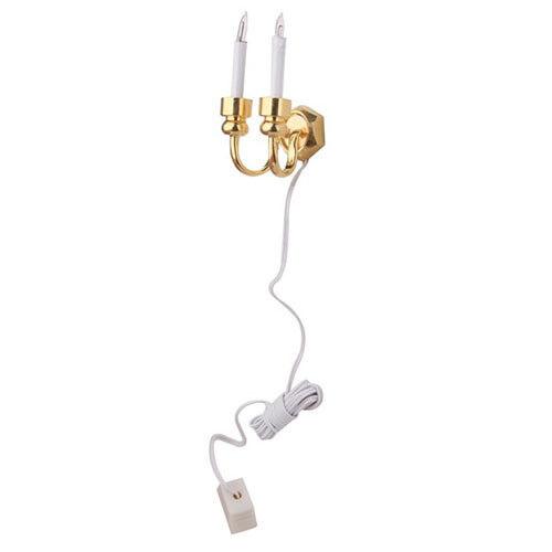 Vela de dos puntas Apliques de Pared de Luz Miniatura muñeca casa Accesorio V2B5