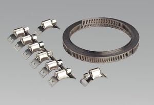 Sealey-Jc97-Collier-de-Serrage-Set-Autoconstruction-8mm-Largeur-de-Bande