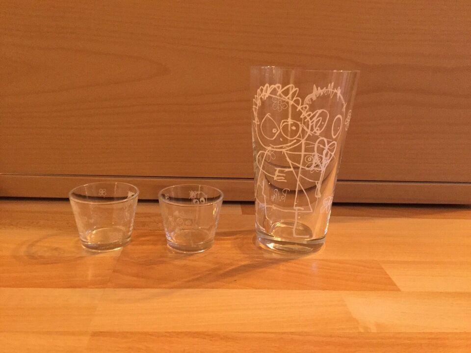 Glas, Vase og fyrfadsstager, Poul Pava