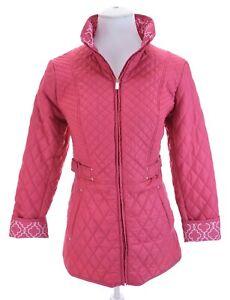 Susan-Graver-Pink-Quilted-Lightweight-Full-Zip-Up-Jacket-Pockets-Women-Sz-XS