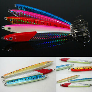 5x-Deep-Sea-Fishing-Spoon-Lure-Metal-Jig-Leurre-Slice-jigbait-Hook-Spinner
