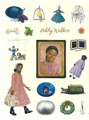RETIRED AMERICAN GIRL ADDY HALLMARK STICKERS 2001 PICTURES FROM 1ST BOOKS