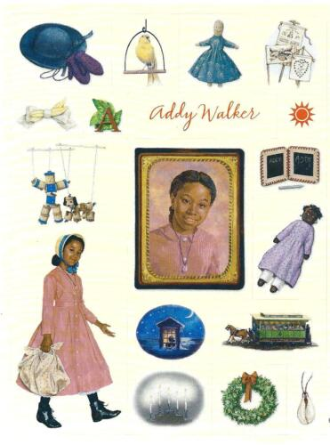 RETIRED AMERICAN GIRL ADDY HALLMARK STICKERS PICTURES FROM 1ST BOOKS 2001