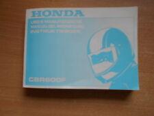 Uso e manutenzione - Instruktieboek  Honda CBR 600 F PC31 Modelljahr 1997