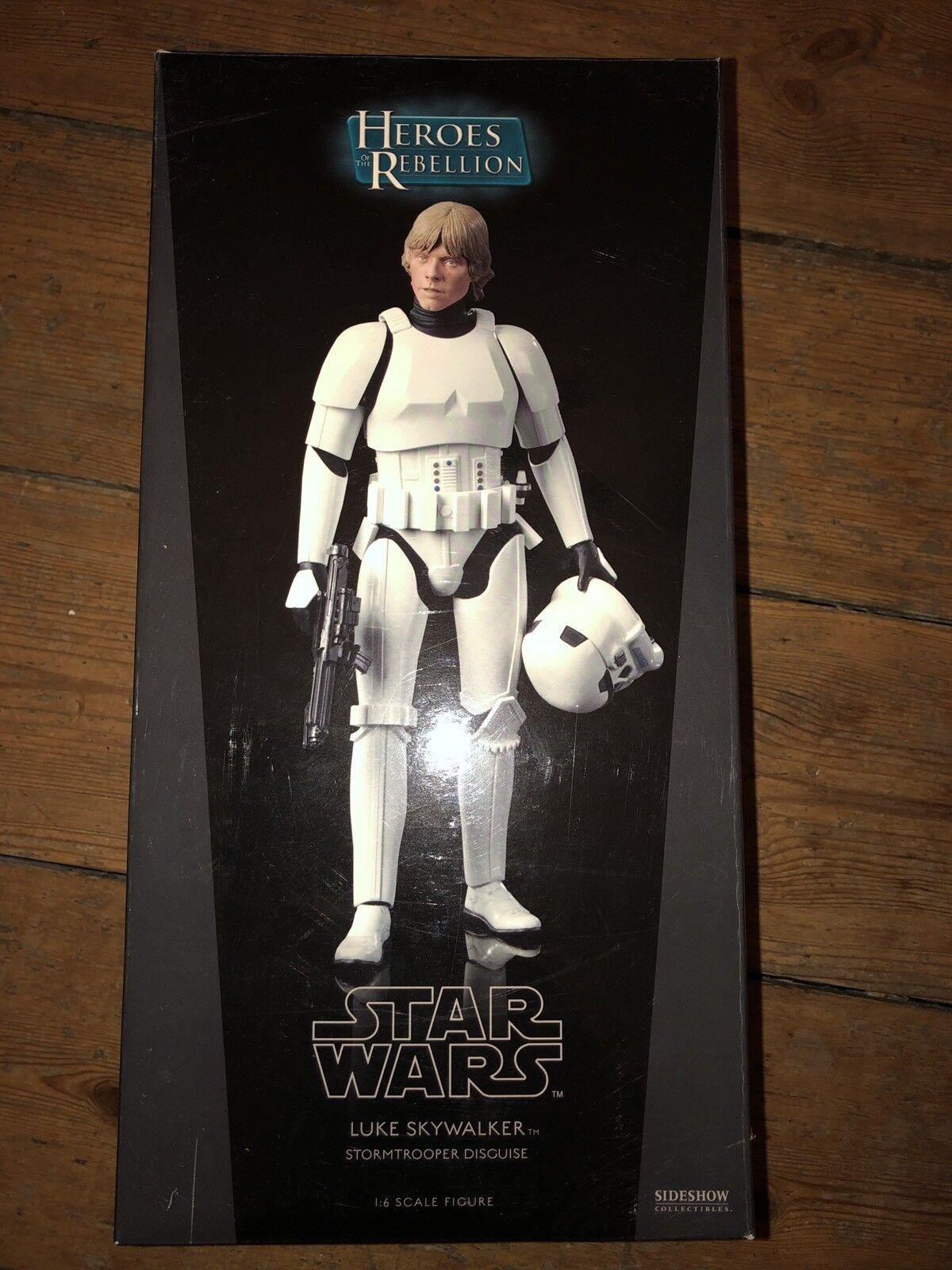 Sideshow Estrella Wars Héroes de la rebelión Luke & han Stormtrooper Disguise C505