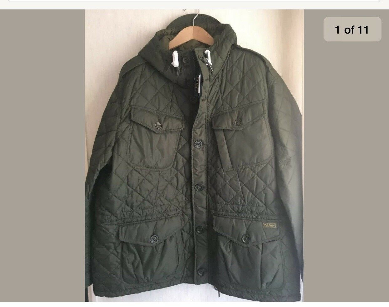 Polo Ralph Lauren b&t quilted parka bomber jkt 1XB high & mighty New