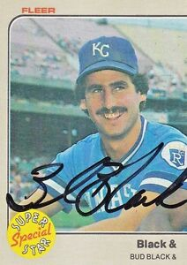 BUD-BLACK-1983-signed-Fleer-644-autograph-Royals-Pitcher-Super-Special-Star