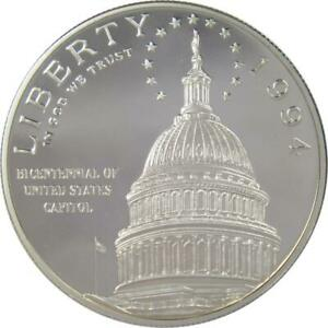 1994-S-1-U-S-Capitol-Bicentennial-Commemorative-Silver-Dollar-Choice-Proof