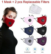 Adult Reusable Washable Pm25 Respirator Anti Fog Cover 2 Carbon Filter Pads