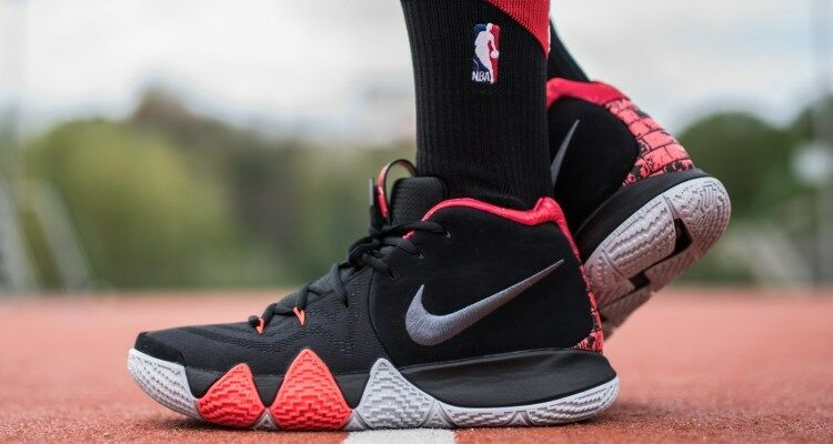 Nike Kyrie 4 IV 41 For The Ages 11 Black Dark Grey Red Crimson White 943806-005