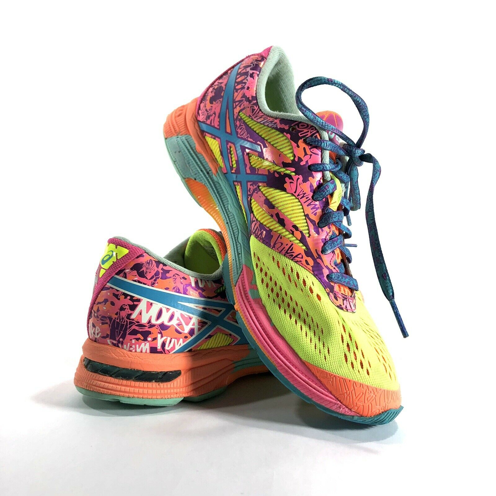 Asics Gel Noosa Tri 10 Running shoes SZ 8 Womens Athletic Sneakers Yellow Pink