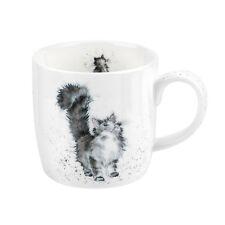 Royal Worcester Wrendale Designs mug Lady of the House Grey Fluffy Cat Mugs