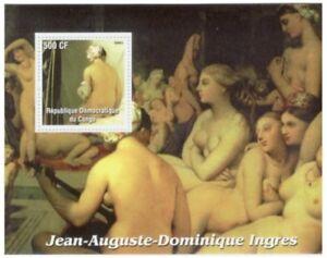 Ingres-peintures-sur-timbres-Stamp-Souvenir-Sheet-9344